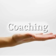 Coaching image - hand with palm held up