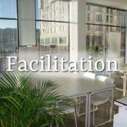 Facilitation image - smart boardroom interior